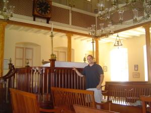 At the Bridgetown synagogue in Barbados
