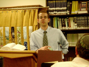 Rabbi Jonathan Kelsen speaking