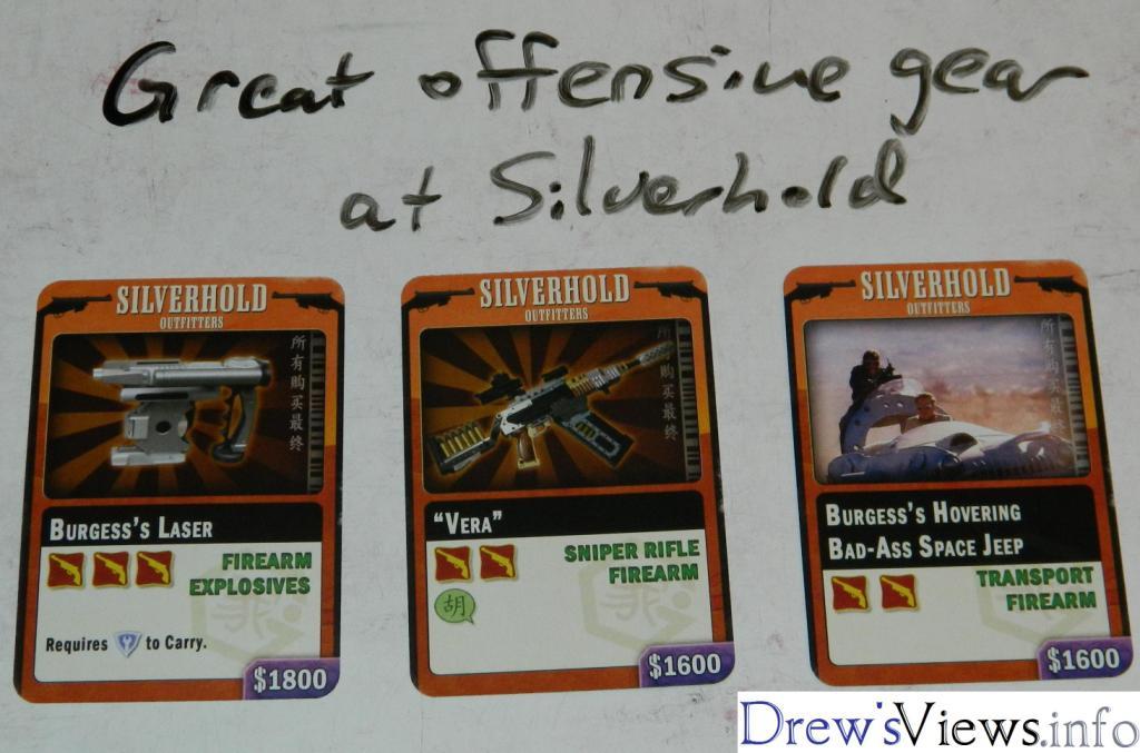 Silverhold - Great Offensive Gear - DrewsViewsDOTinfo - Firefly The Game