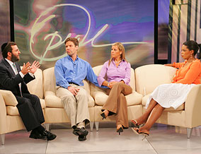"Rabbi Shmuley Boteach on Oprah following the first season of his show, ""Shalom in the Home"""
