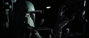 Boba Fett following the Millenium Falcon - Empire Strikes Back