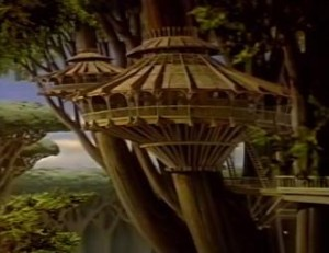 Kashyyyk houses in Holiday Special