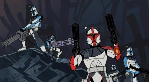 ARC Troopers about to unload on General Grievous