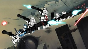 ARC Troopers fighting on Muunilinst