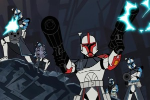 ARC Troopers unloading on General Grievous
