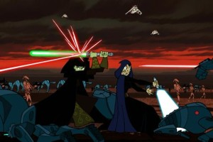 Barriss Offee and Luminara Unduli in battle
