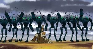 Crushing while sliding is Mace Windu against Super Battle Droids
