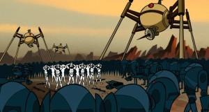 Droids winning a battle