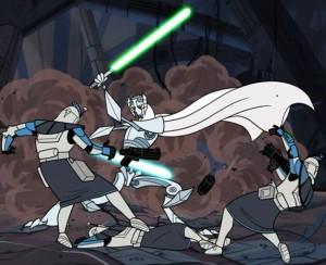 General Grievous easily felling ARC troopers