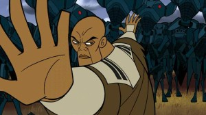Powerful move of Mace Windu against Super Battle Droids on Dantooine