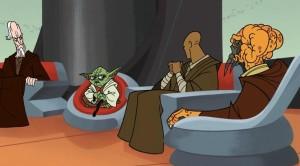 Yoda considering making Anakin a Jedi knight