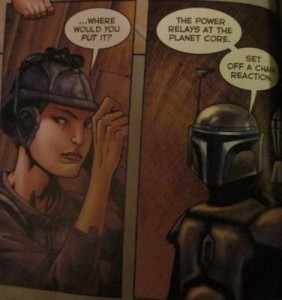 Zam Wesell and Jango Fett figuring out where to find General Khorda