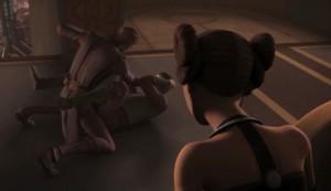 Anakin throwing a beatdown on Clovis