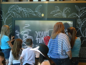 Digital Chalkboard at Starbucks at Downtown Disney