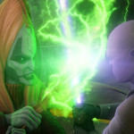 Mother Talzin fighting Mace Windu