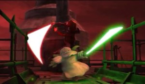 Yoda fighting Lord Sidious
