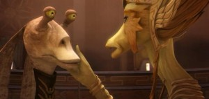 Jar Jar Binks has a royal lover