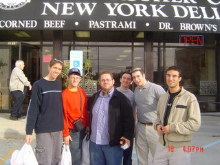 YCT boys in front of Kosher Cajun
