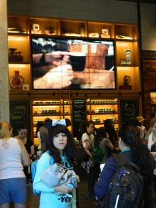 Film Installation Documenting the Starbucks Story on nine 46-inch LCD LED panels at Starbucks in Downtown Disney