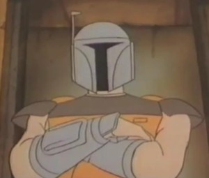 Boba Fett revealing himself to the Fromm gang