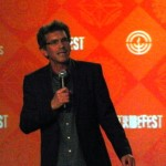 David N. Weiss speaking on the main stage at TribeFest 2014