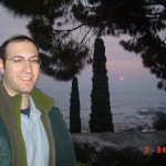 At Bahai Garden in Haifa near sunset in January 2007