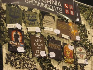 Firefly merchandise being sold by California Browncoats