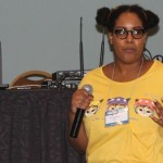 Amanda Meadows presenting at Long Beach Comic Expo 2014