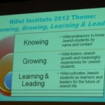 Hillel Institute 2012 Theme